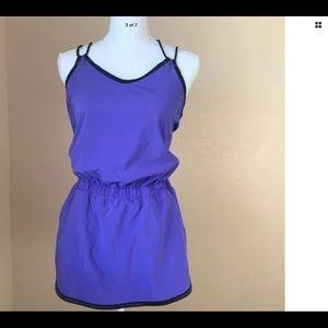lululemon athletica Pants - LULULEMON Purple/Black Romper BNWOT